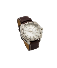 Watch padded leather brown
