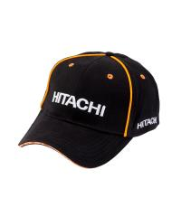 Cap black with orange piping