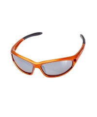 Sunglass Shiny Metallic Orange Round